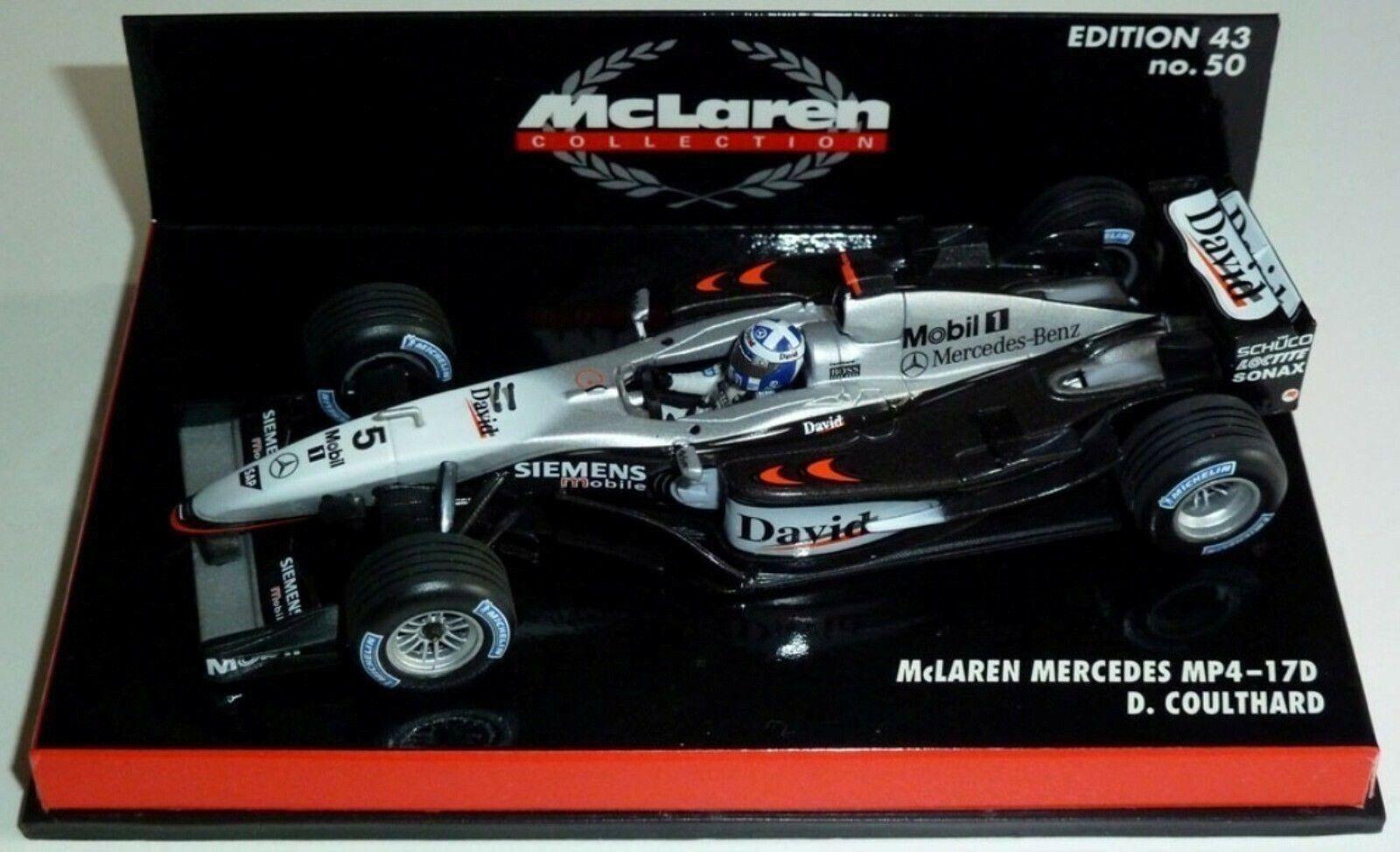 WOW estremamente raro McLaren 2003 MP4 17 D Coulthard GP Francia 1 43 Minichamps