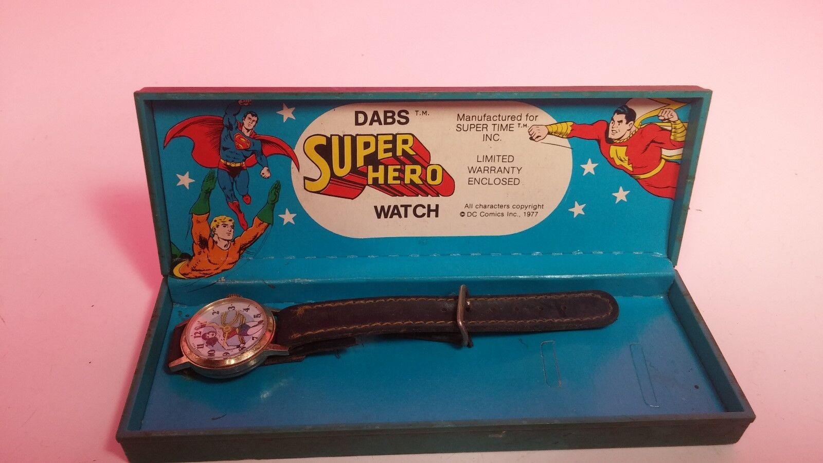 1977 Dabs Super Hero Watch Wonder Woman DC Comics with Case