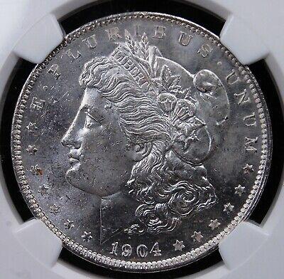 1904 O MORGAN DOLLAR NGC MS 63 CHOICE BU FROSTY WHITE OR NEAR WHITE *ONE COIN*