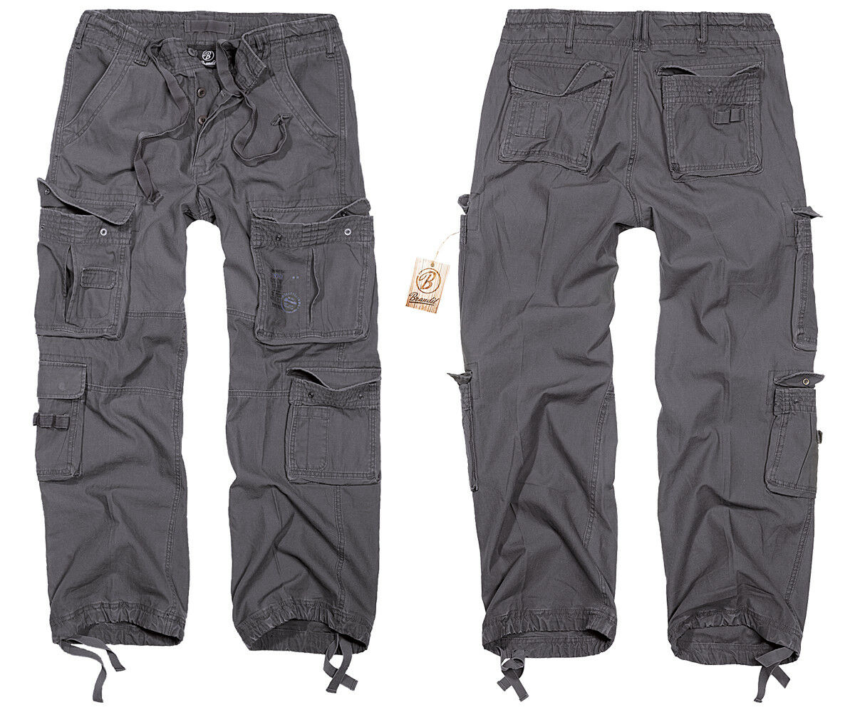 BRANDIT Pure Vintage Trouser anthrazit Armeehose Feldhose Arbeitshose Cargohose