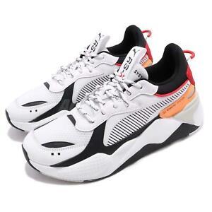 Détails sur Puma RS X Tracks Running System White Black Red Orange Men Shoe Sneaker 36933202