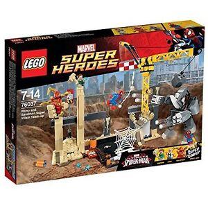 LEGO-Super-Heroes-76037-Rhino-und-Sandman-Allianz-der-Superschurken-NEU-NEW