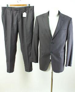 watch dc82e 8c08f Details zu Herren Anzug Gr. 52 Wolle Sakko Hose Business Suit Jacket Pants  Grau