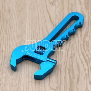 3AN-16AN-Adjustable-Spanner-Aluminum-Anodized-Wrench-Fitting-Tools-Blue-UK