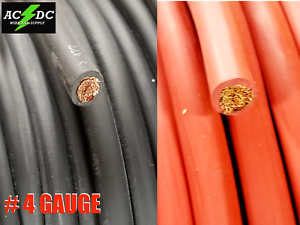 4-AWG-Gauge-AWG-Welding-Lead-amp-Car-Battery-Cable-Copper-Wire-MADE-IN-USA