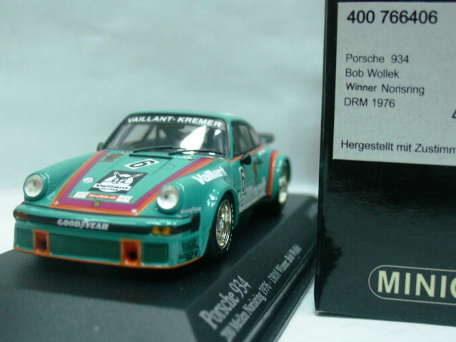 Wow extrêmement rare Porsche 911 RSR 3.0  06 Vaillant DRM 1976 1 43 Minichamps-GT2