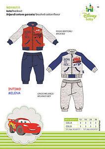 COMPLETINO-BIMBO-DISNEY-ART-100731-FELPA-APERTA-ZIP-CON-PANT-LUNGO-RAFF-CARS