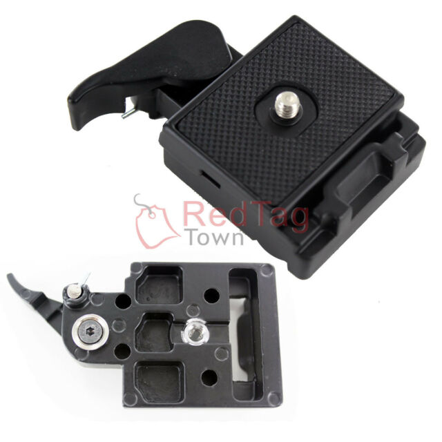 Camera Stand Tripod Quick Release Plate Mount 1/4 inch Screw Station Adapter Set