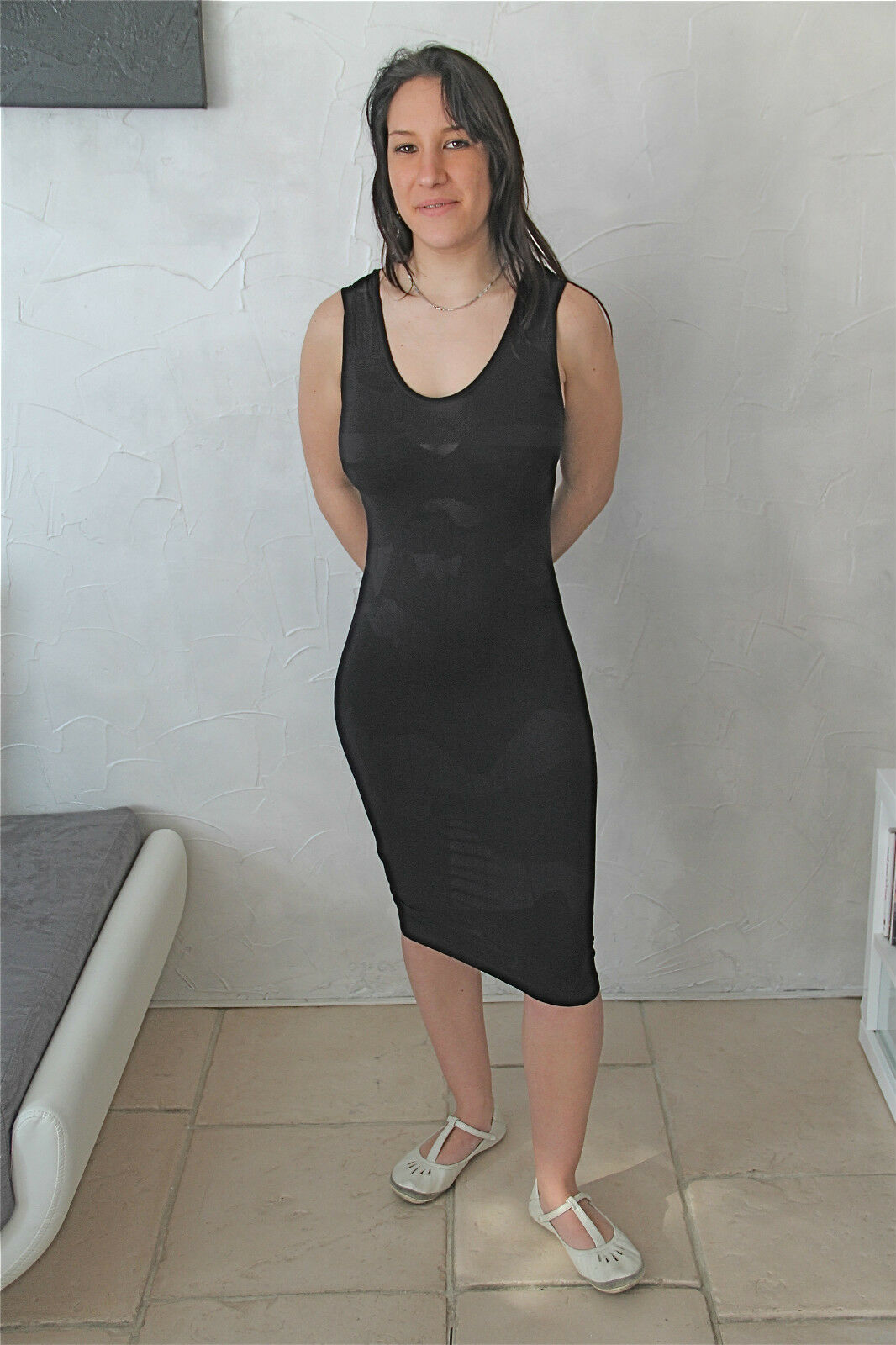 Dress robe schwarze stretch MARITHE FRANCOIS GIRBAUD Größe 3  40   NEUVE ÉTIQUETTE