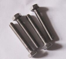 "2BA x 1 1/4"" Hex Set Screw - Stainless (Qty 4)"