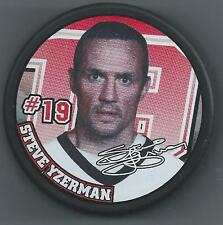 Steve Yzerman  Detroit Red Wings  Souvenir Photo Hockey Puck