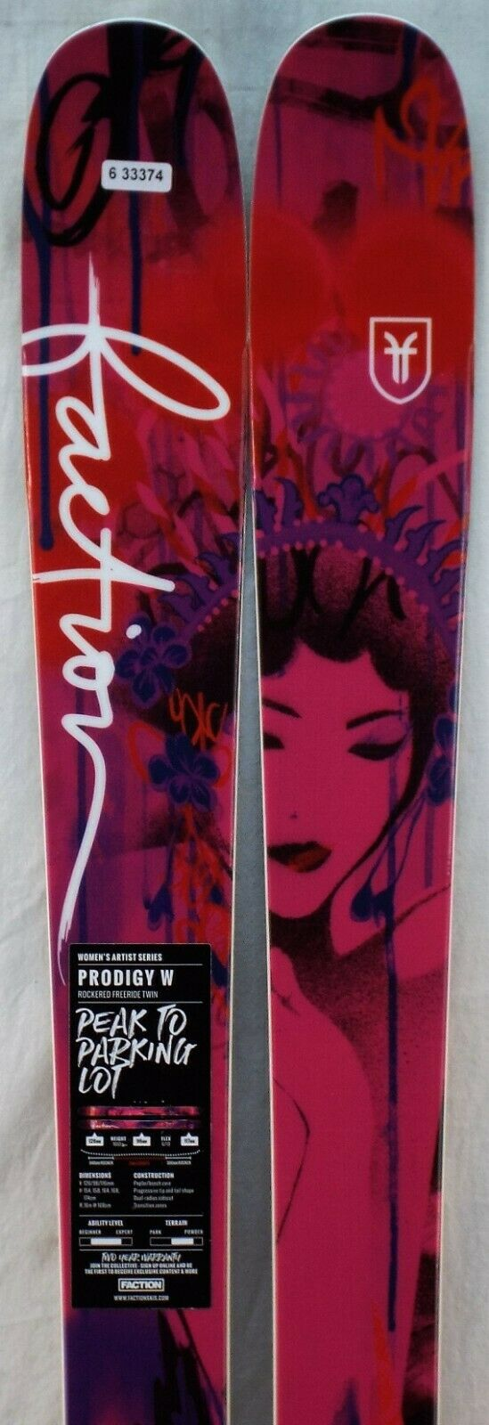 17-18 Faction Prodigy W New Women's Skis Size 158cm   official authorization