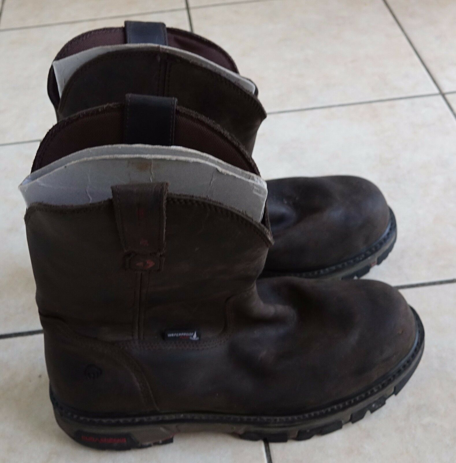 Wolverine Men's Nation DuraShocks Work brown leather Boots, 13 M