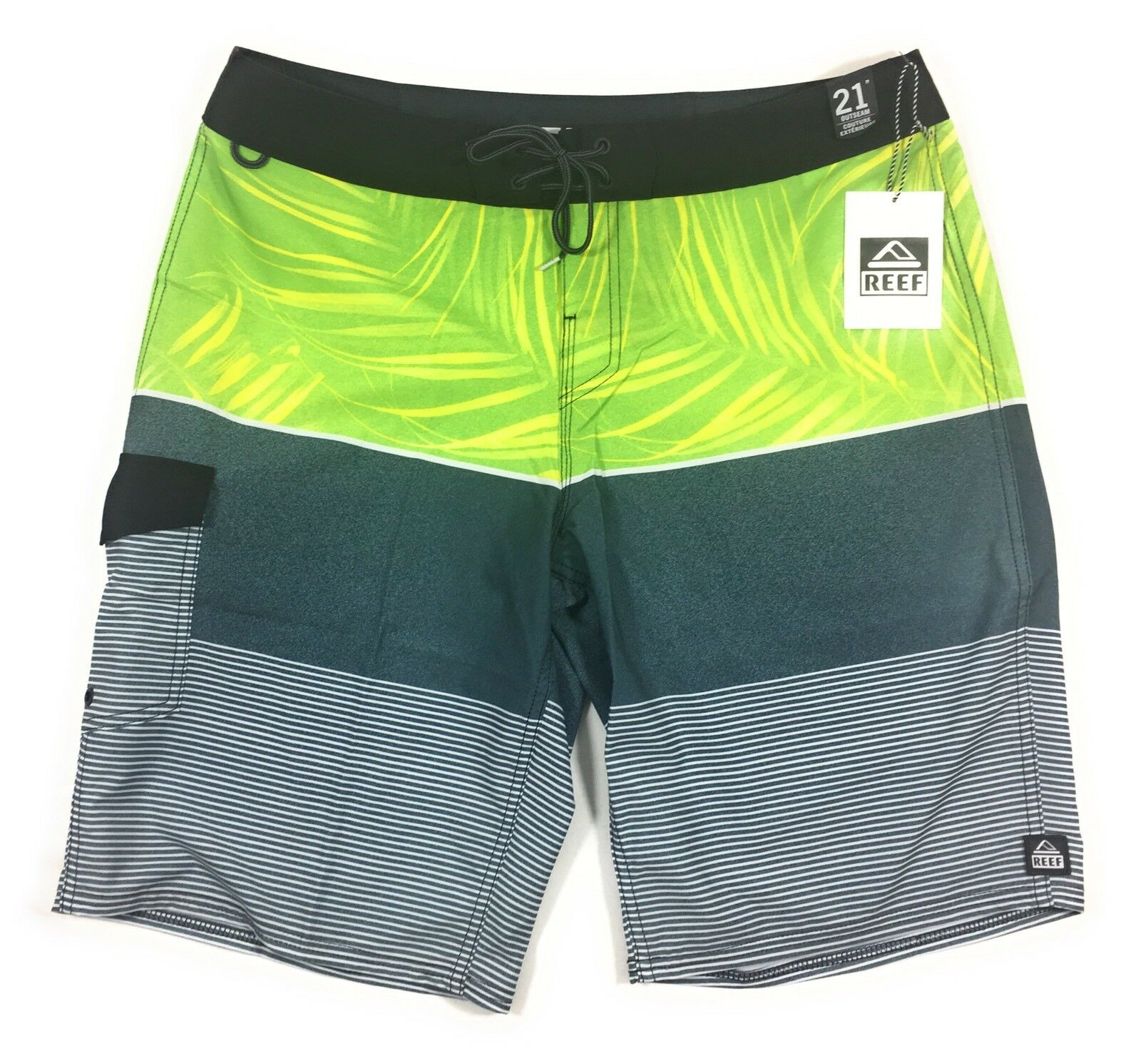 a75f63a0d5 21 Men's 36 Green Board Shorts Swim Suit Reef Express ndpify3787 ...