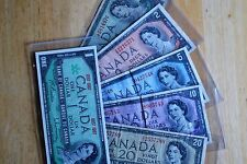 Six Canadian Bills - 1954 ..  $1  $2  $5  $10  $20    -  1867 1967 $1.00