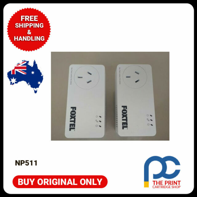 Netcomm powerline adapters 500mbps x2. Foxtel (np511) 240v internet connection