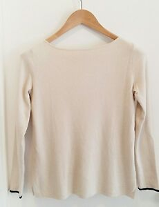 Gap-Women-039-s-Boat-Neck-3-4-Sleeve-Classic-Sweater-Size-XS-Cotton-Silk-Blend