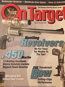 On Target Oct 2002, .450 Marlin, Hunting Revolvers, PSE Thunderbolt Bow