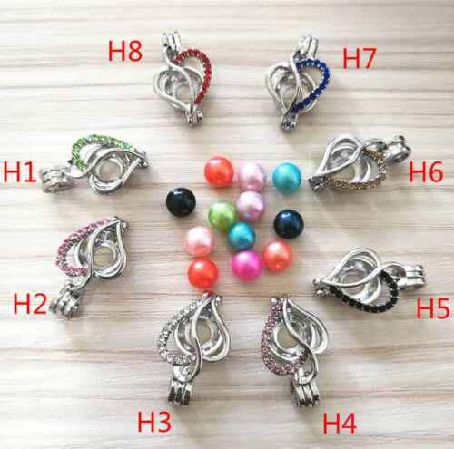 Hot Wish Colorful Silver Plated Pearl Cage Pendant For Akoya Oyster Pearl Chain