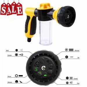 Multifunctional-Foamaster-Snow-Foam-Car-Wash-Spray-Gun-Hose-Pipe-Yellow-UK