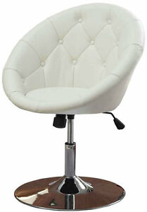 Round Back Swivel Chair Modern Vintage Lounge Leather
