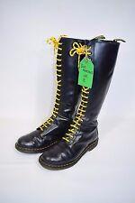 Dr Martens DM Black Leather 20 Eye Boots Size UK 8 EU 42