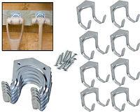 10 x TOOL STORAGE HOOKS Metal Double Arm Hanger Garden Garage/Shed/Workshop Tidy
