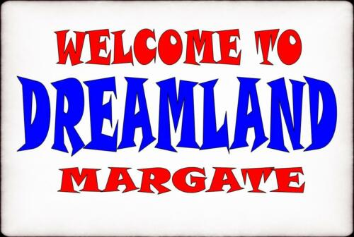 Dreamland Margate  Vintage Style Sign  Funfair Ride   Vintage Fairground Sign