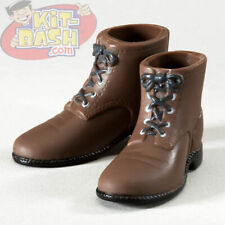 TBD1g40 Infirmary Exclusives WWII US Dark Brown Short Boots Female 1:6