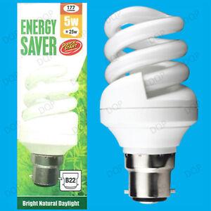 3x-5w-25w-Tageslicht-Quick-Start-Low-Energy-Cfl-Sad-5600k-Weiss-Gluehbirne-Bc-b22