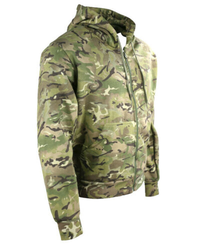 MILITARY STYLE HOODIE in MTP BRITISH ARMY BTP MULTICAM CAMO