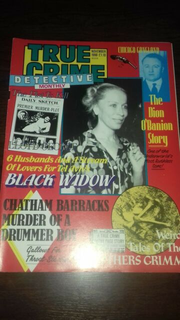 true crime detective monthly magazine november 1990 good condition for age