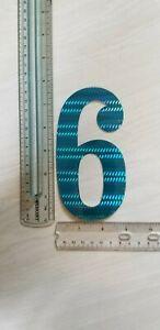 """old school BMX Blue Prism number plate number # 1 GT 6/"""" Zeronine Haro"""