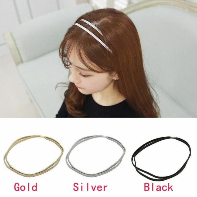 Women's Girl Fashion Elastic Woven Hair Band Double Braided Headband Multicolor