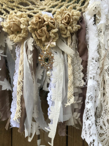 Shabby Chic Garland Wedding Backdrop Burlap Garland Reception Lace Party Cottage