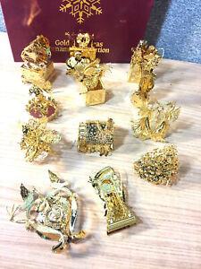 Danbury Mint 1997 20kt Gold Christmas Ornament Collection ...