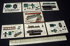 1948 Vintage Original Micromodels Set HM2 1/6 1st Ed. With Boiler Design Error