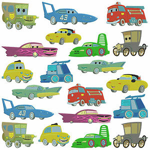 * CARS 2 * Machine Embroidery Patterns * 20 designs in 3 sizes