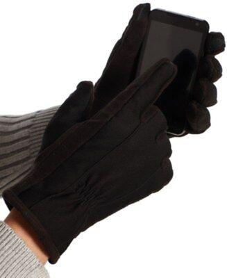 ISOTONER Men Gloves Fleece Lined Iphone Smart Touchscreen Black Tech Gadget L e7