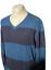 Indexbild 2 - Levi Strauss Herren Casual Pullover blau gestreift V Ausschnitt 100% Baumwolle