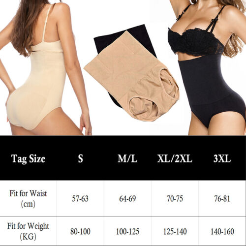 Tummy Control Shapewear High Waist Panties Seamless Boned Body Shaper Briefs US