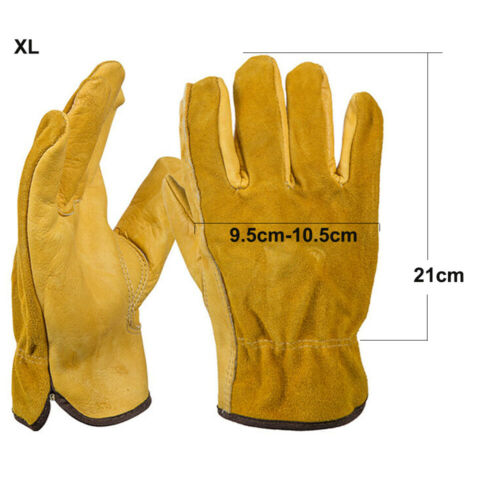 High Quality Cowhide Welder Welding Gloves Work Safety Protection Gauntlet 1pair