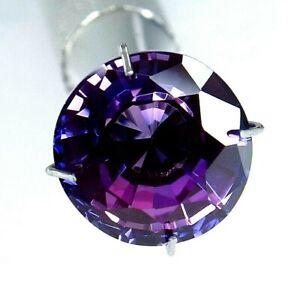 6.60 Ct Natural Sri Lanka Purple Round Cut Sapphire Certified Loose Gemstone