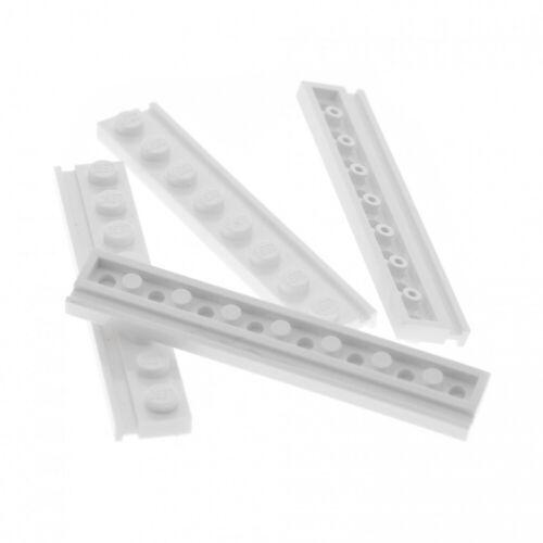 4x lego raíl guía barra Weiss 1x8 Nut raíl guía piedra 4510