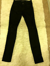 Guess Brittney Skinny Black Denim Destroyed Jeans Size 24