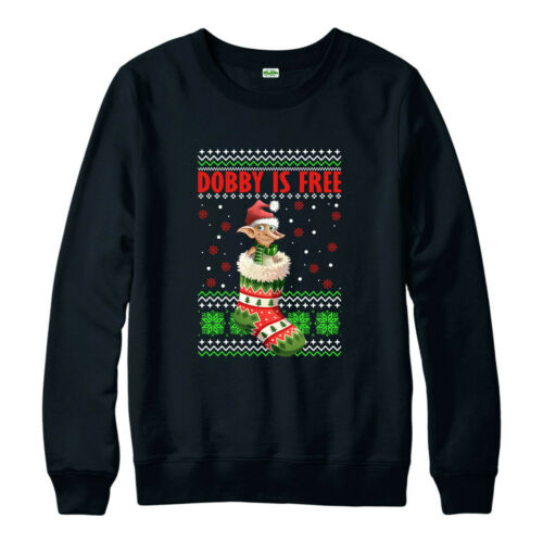 Dobby Is Free Christmas Jumper Harry Potter Character Elf Funny Xmas Gifts Top