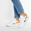 thumbnail 1 - Reebok Womens Classic Leather Shoes Trainers Snakeskin White FV1083 UK 5, 7.5