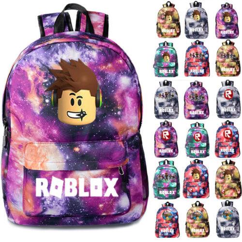 Kids Roblox Backpack School Bag Students Boys Bookbag Handbags Travelbag UK Ship