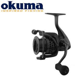 NEW-2019-Okuma-CUSTOM-BLACK-FEEDER-Carp-Fishing-Reel-Graphite-Body-spare-spool