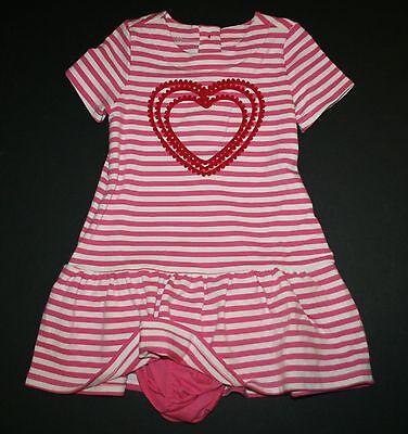 NWT Gymboree Cozy Valentine Striped heart dress SZ 2T,3T,and 4T